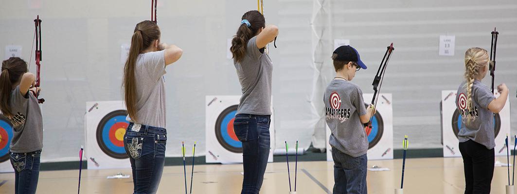 Kinesiology Co-Sponsors Archery Shootout