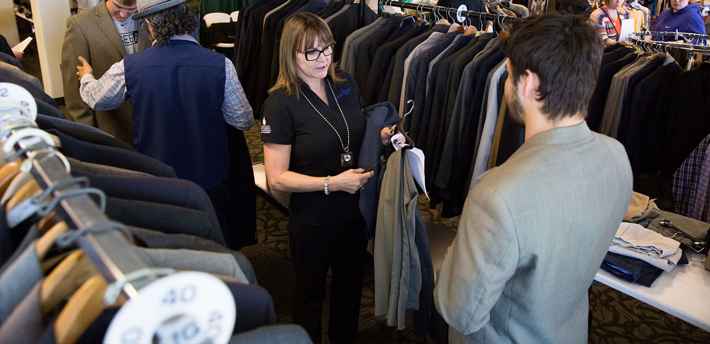 Southern partners with Chamber YPN to provide professional clothing to students (photo gallery)