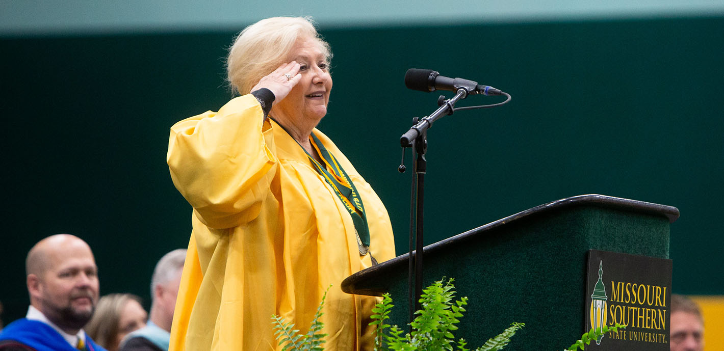 'It's Your Door; Go Through It': First grad to receive four-year degree from MSSU returns to speak at spring commencement