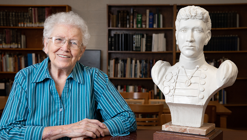 'I'm thrilled it's there': First recipient of Annie Baxter Award donates bust to Spiva Library