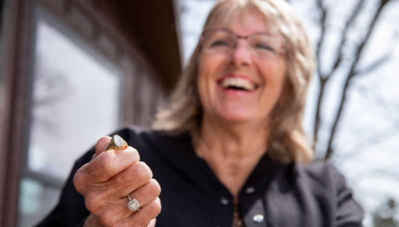 Lost and Found: 1977 graduate reunited with class ring