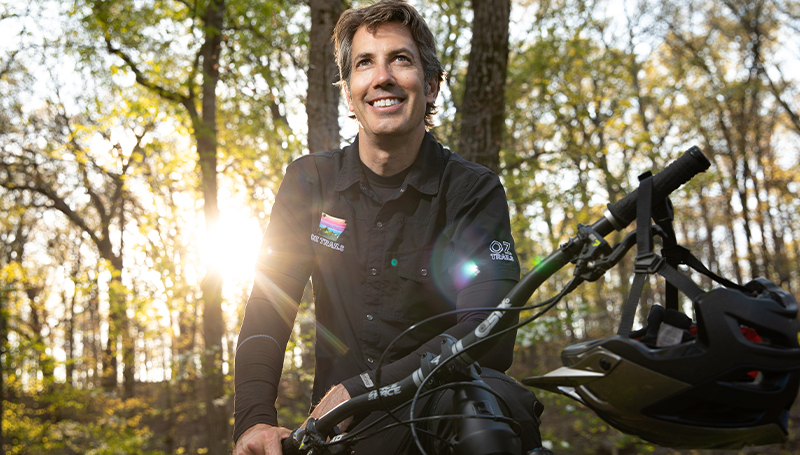 Trailblazer: Gary Vernon, '92, working to make NW Arkansas a biking destination
